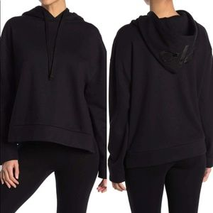 ALO Vaunt Hooded Pullover, Black. Size-Small